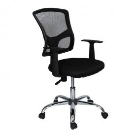 Офис стол-7019 черен