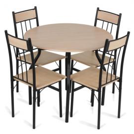 Маса с 4 стола-дъб
