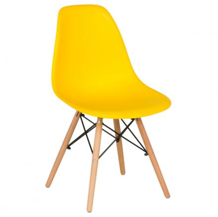 Трапезен стол-9957 жълт