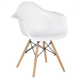 Трапезен стол-9959 бял