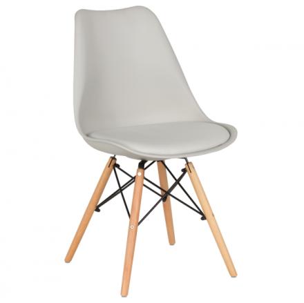 Трапезен стол-9960 сив