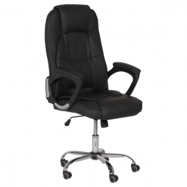 Офис стол-6505 черен LUX