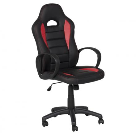Офис стол-7501 черен-червен