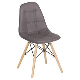 Трапезен стол-9962 сив