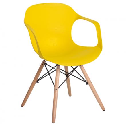 Трапезен стол-9964 жълт