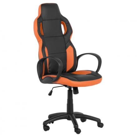 Офис стол 7510 – черен/оранжев