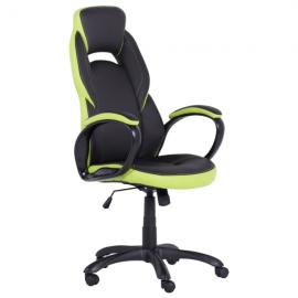 Офис стол 7511-черен/зелен