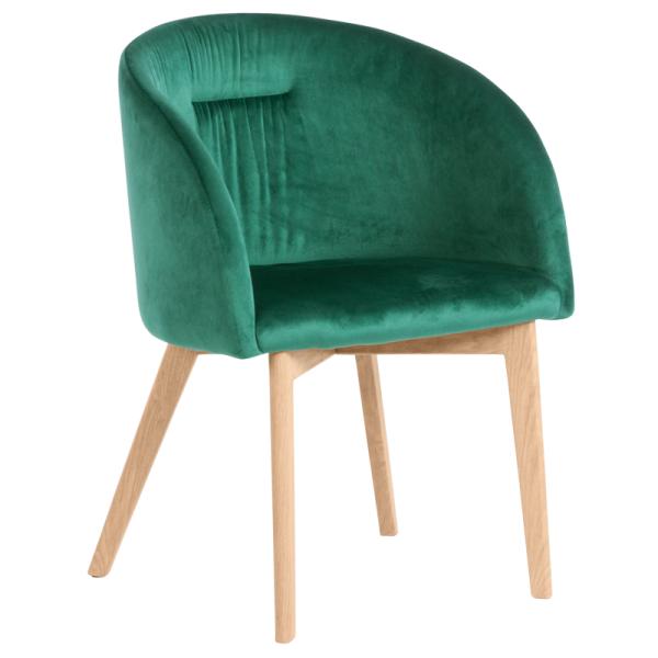 Трапезен стол - 522 тъмно зелен