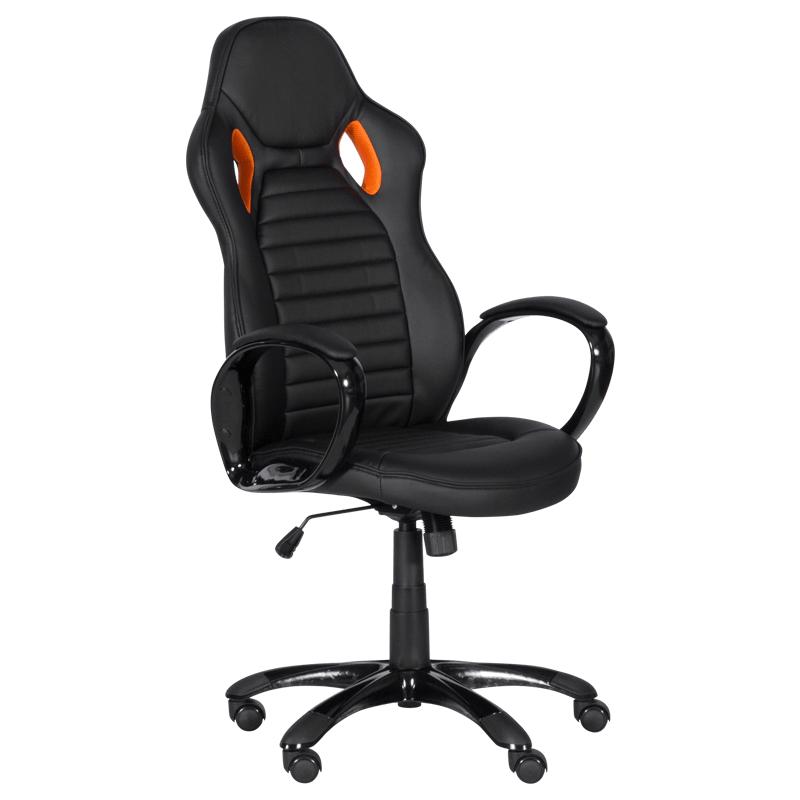 Офис стол 7502 - черен/оранжев