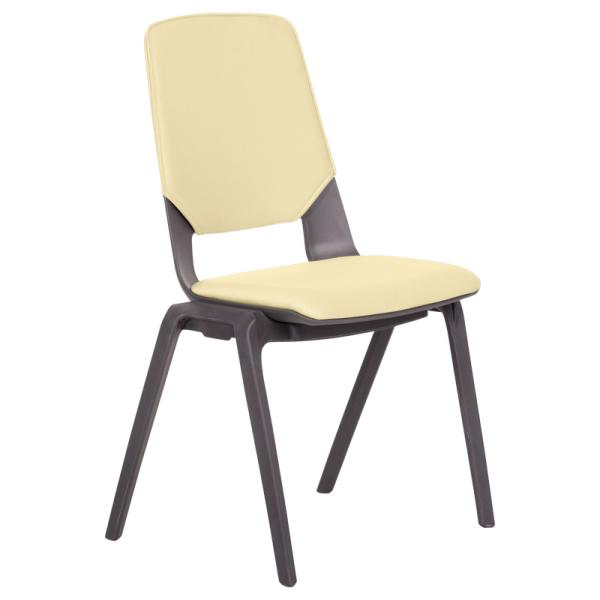 Посетителски стол Limber - светло жълт