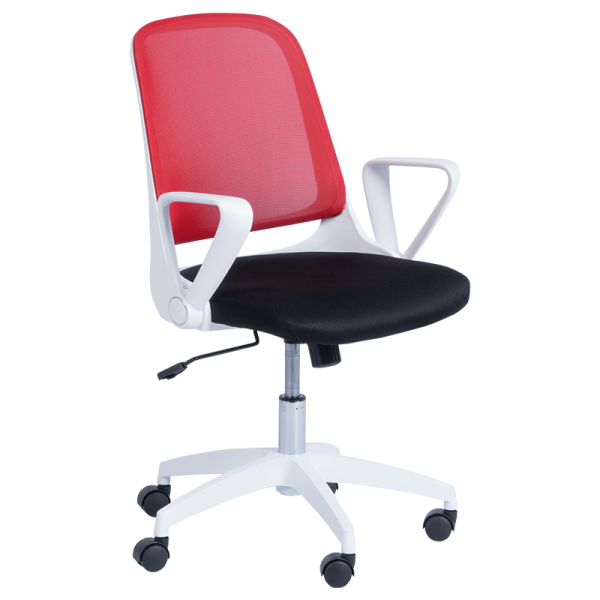 Офис стол - 7033 червен/черен