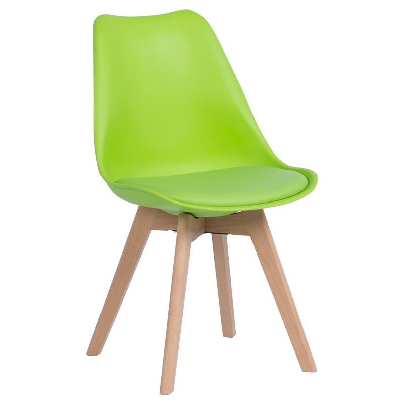 Трапезен стол-9958 В зелен