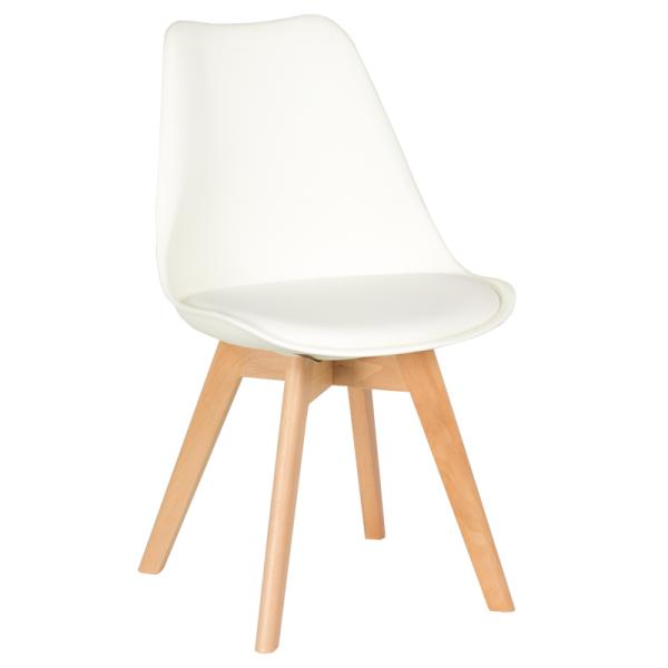 Трапезен стол-9958 В бял