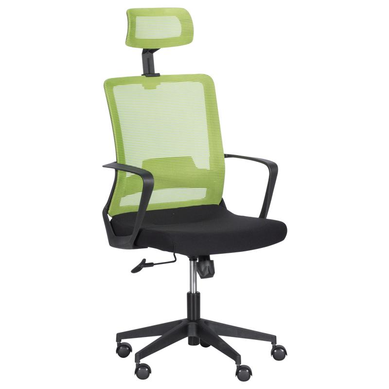 Офис стол - 7562 черен-зелен