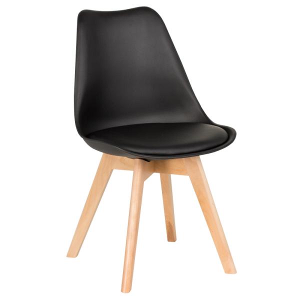 Трапезен стол-9958 В черен