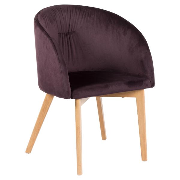 Трапезен стол - 522 тъмно кафяв