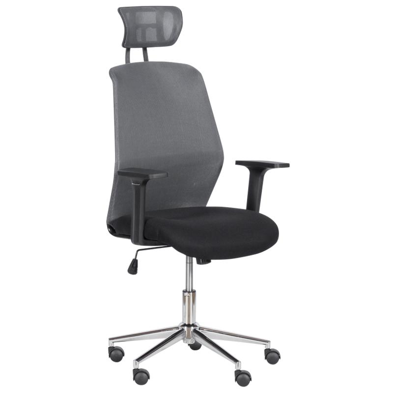 Офис стол - 7535 - 1 сив/черен
