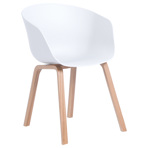 Трапезен стол-9972 бял