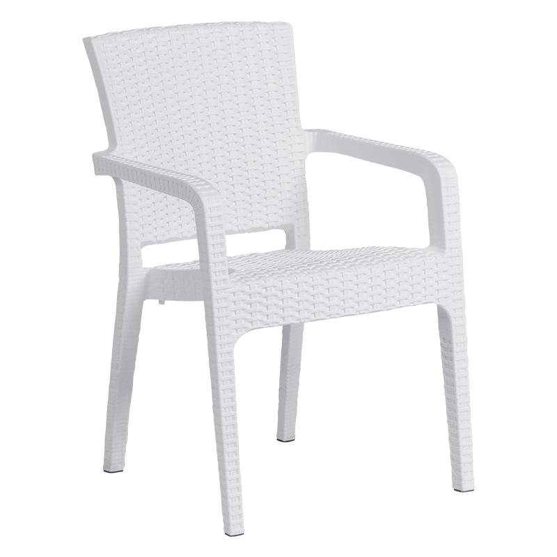 Градински стол LILYUM - бял