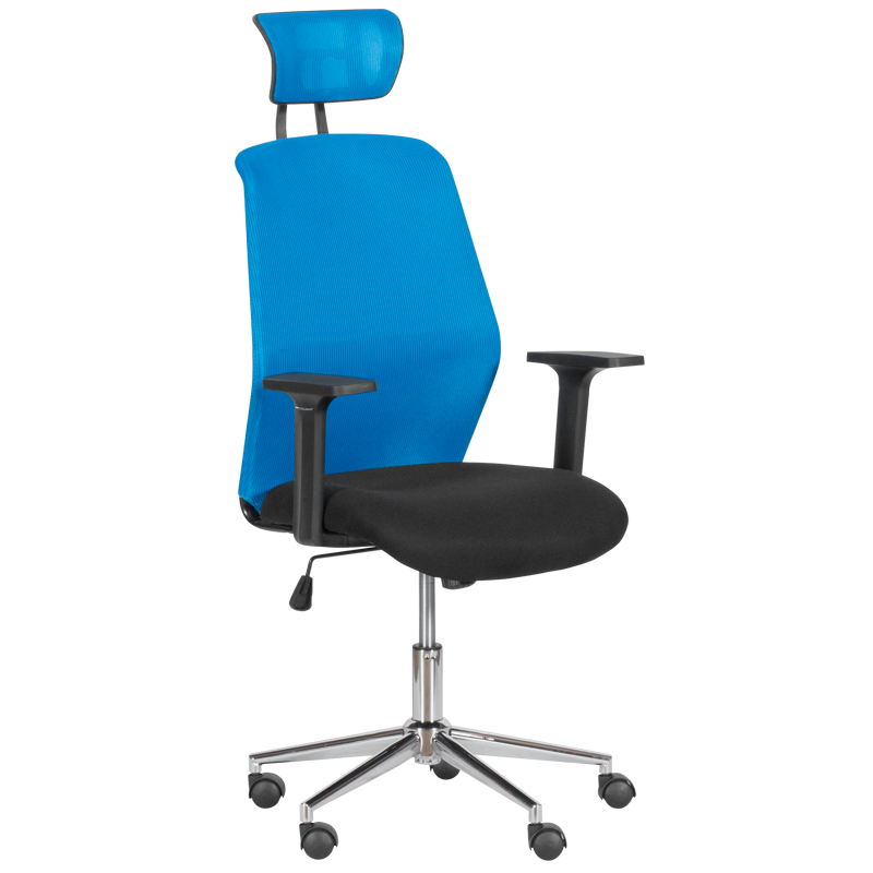 Офис стол - 7535 - 1 синьо/черен