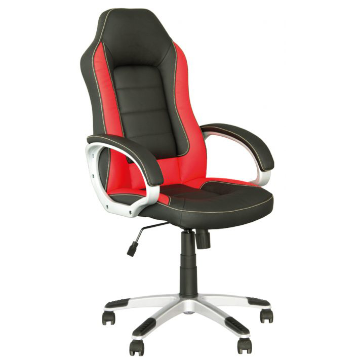 Геймърски стол Record - черен/червен