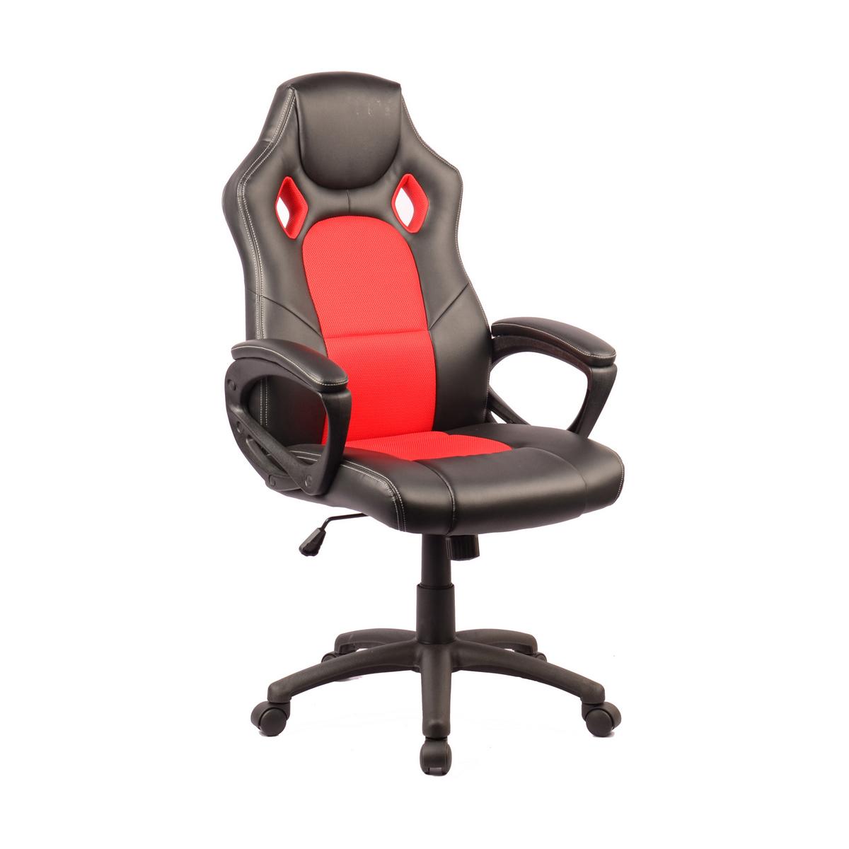 Геймърски офис стол - Stone черно-червен