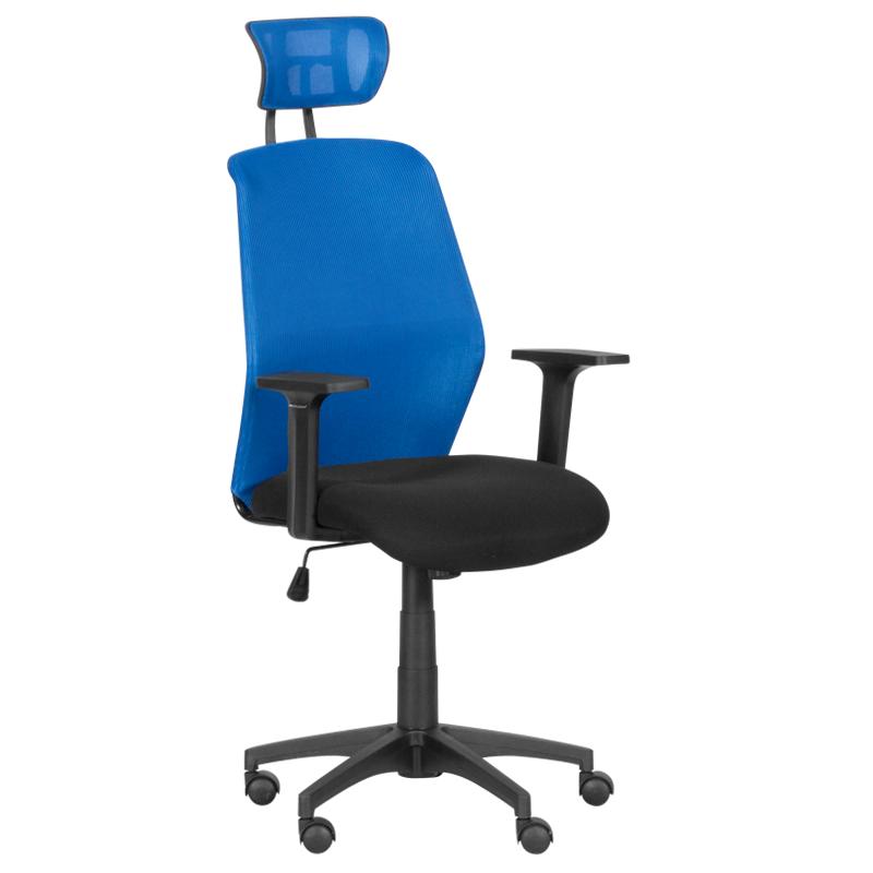 Офис стол - 7535 синьо/черен