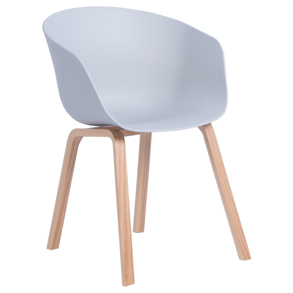 Трапезен стол-9972 сив