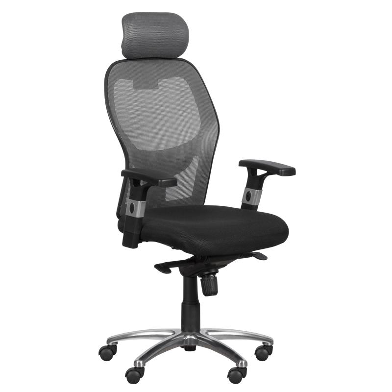 Офис стол - 7520 черен/сив