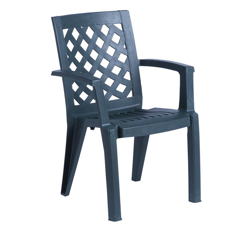 Пластмасов стол ERGUVAN - тъмно зелен