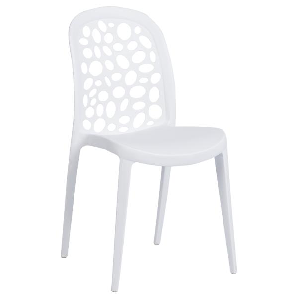 Трапезен стол 9940 - бял
