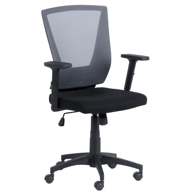 Офис стол 7039 черен-сив