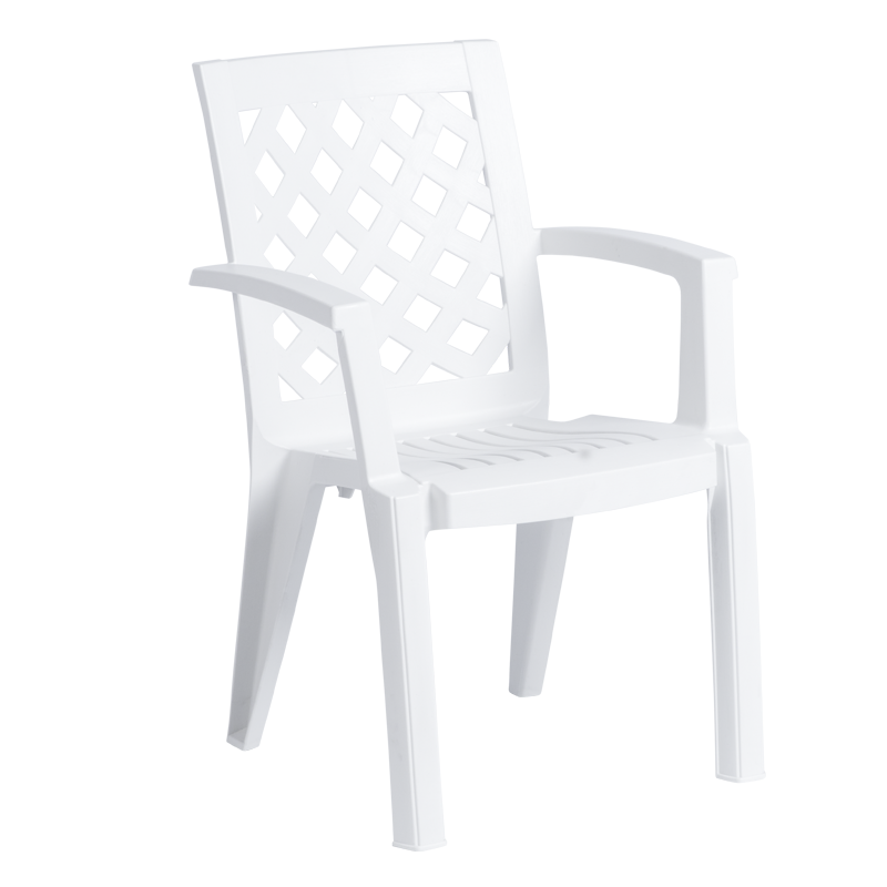 Пластмасов стол ERGUVAN - бял