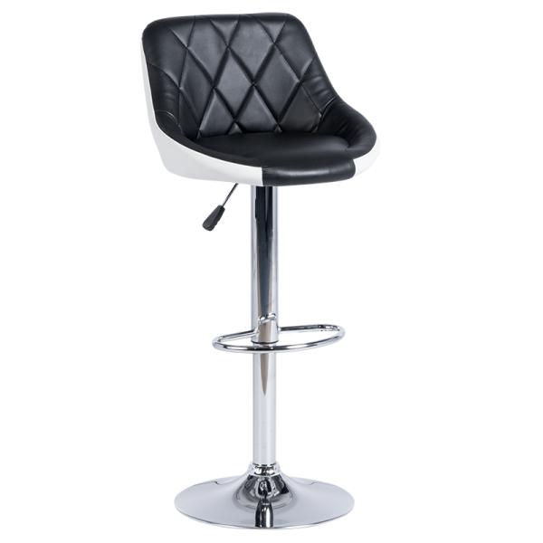 Бар стол 3080 - черно/бял