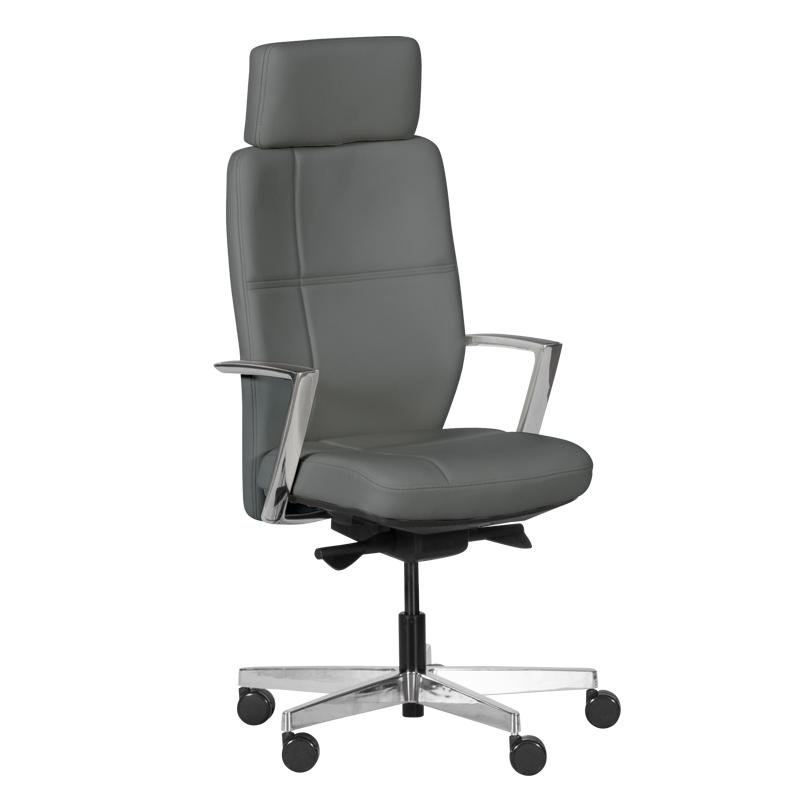 Офис стол GOBI - тъмно сив