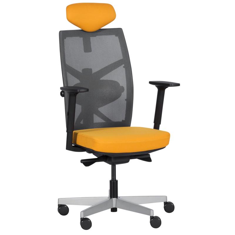 Офис стол-Fredo медено жълт