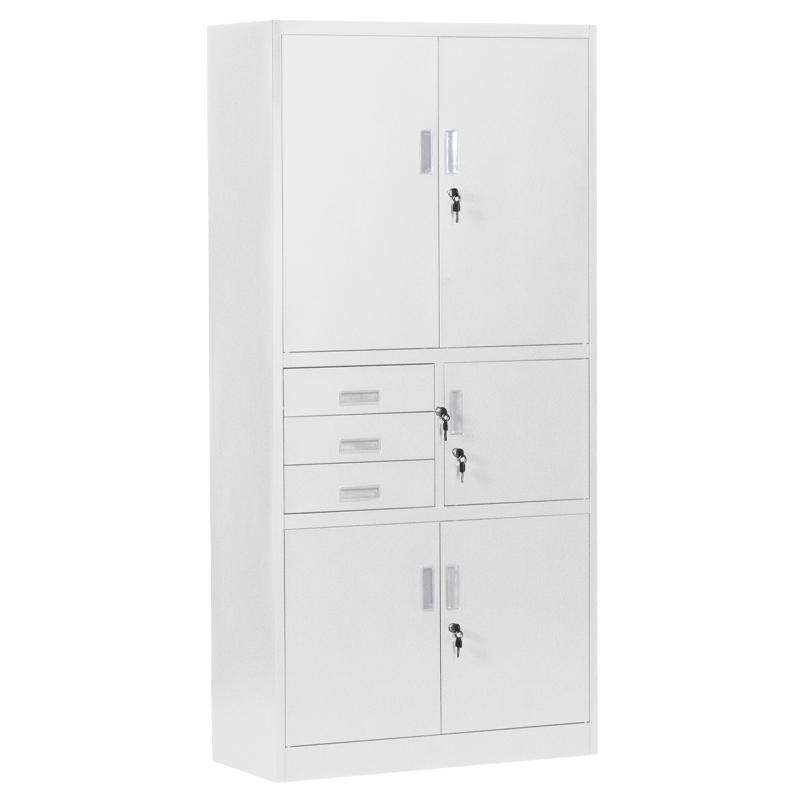 Метален шкаф-CR 1281 E сив