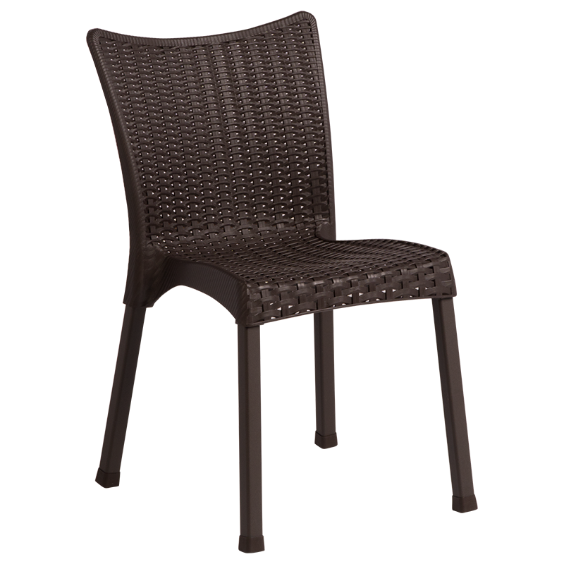Градински стол GARDENYA - тъмно кафяв