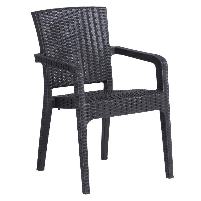 Градински стол LILYUM - тъмно кафяв
