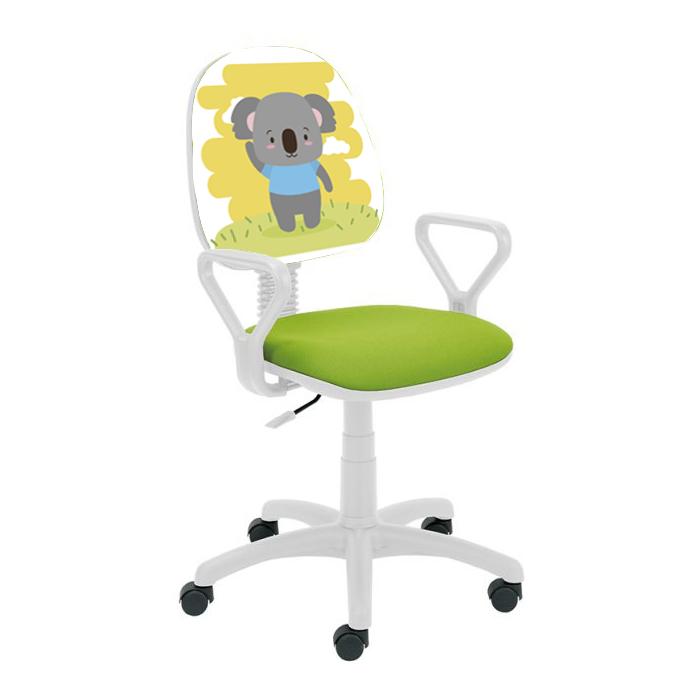 Детски стол Regal White - зелен Bear