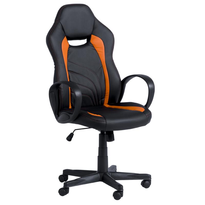 Геймърски стол 7525 - черно/оранжев