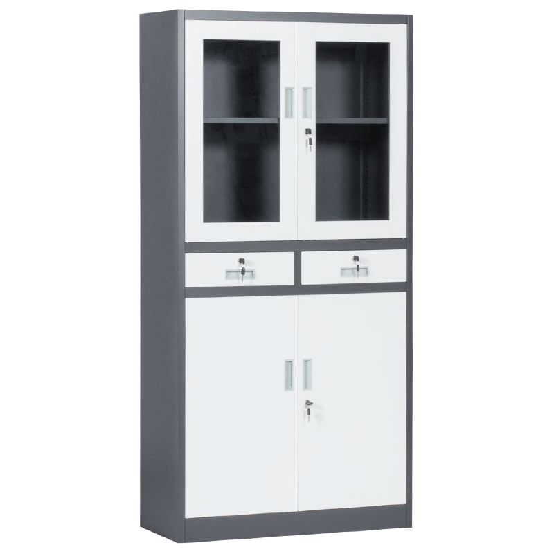 Метален шкаф-CR 1247 E SAND бял-графит