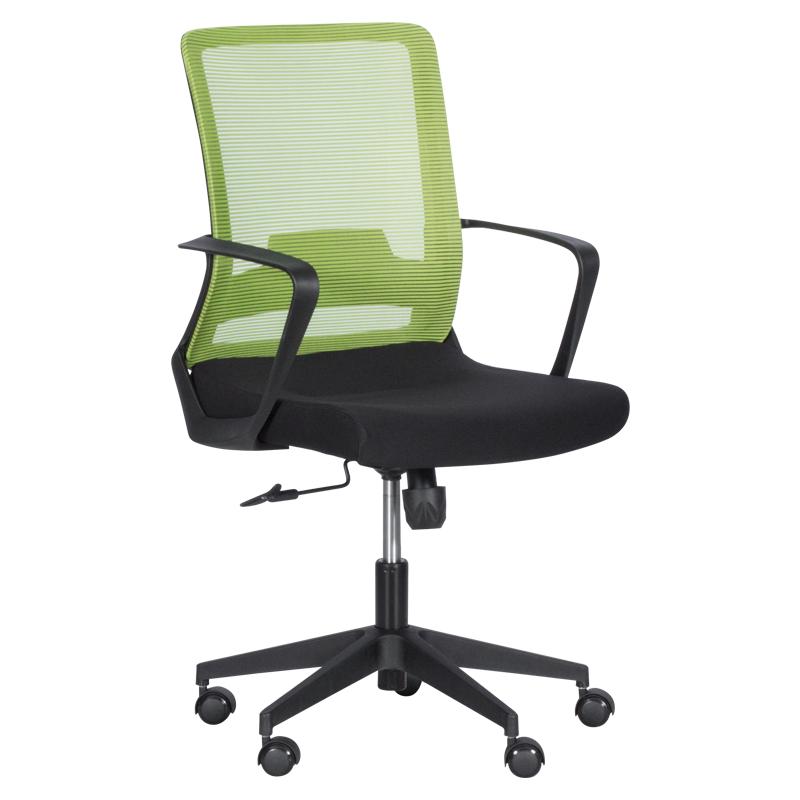 Офис стол - 7563 черен-зелен