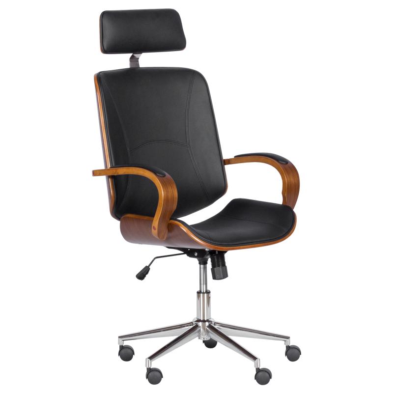 Офис стол - 6401 орех-черно