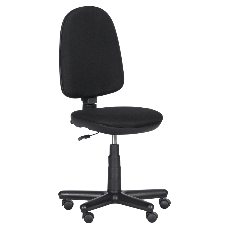 Офис стол - Comfort черен (без подлакътници)