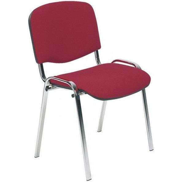 Посетителски стол - Iso Chrome бордо