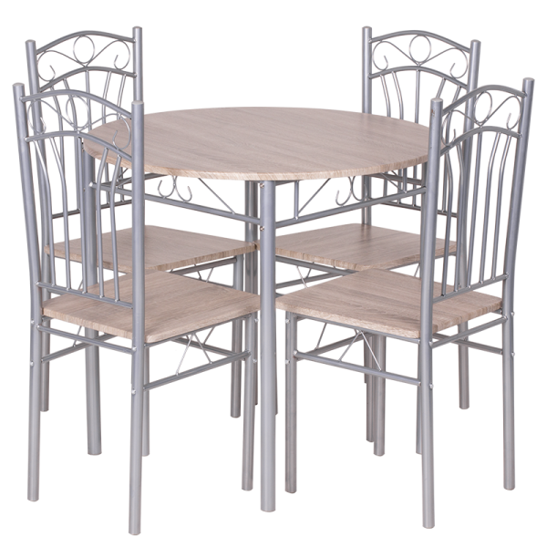 Маса с 4 стола 20013 - дъб сонома