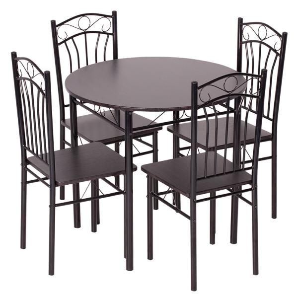Маса с 4 стола 20013 - венге 2