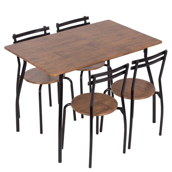 Маса с 4 стола 20014 - палисандър