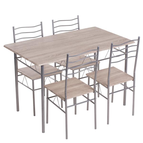 Маса с 4 стола 20015 - дъб сонома 2